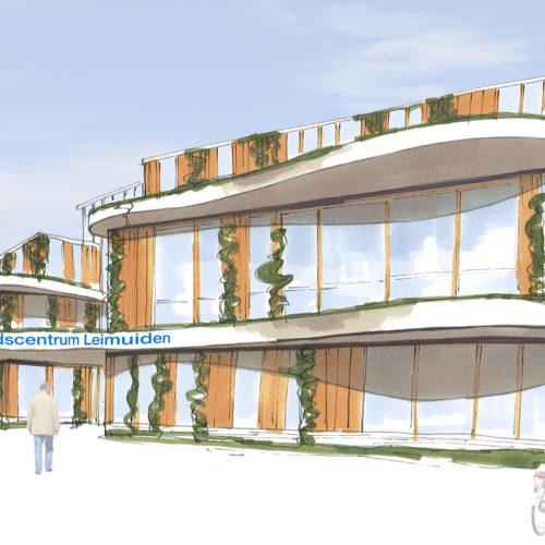 Ontwerp nieuwbouw gezondheidscentrum met huisartsenpraktijk en fysiotherapie praktijk